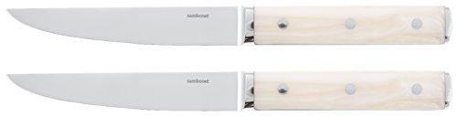 Sambonet Rosenthal Steakmesser - 2 er Set - Porterhouse - Edelstahl/Elfenbein