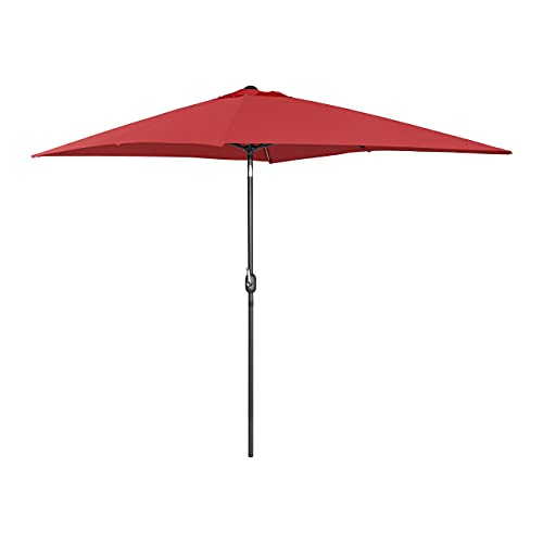 Uniprodo Ombrellone da Esterno Grande Ombrello da Giardino Uni_Umbrella_TSQ2030BO (Bordeaux, Rettangolare, Inclinabile, 200 x 300 cm)