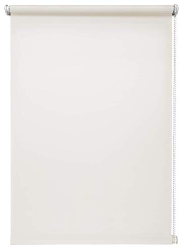 Tageslichtrollo Weiß 90x150 cm ohne Bohren Klemmfix ohne Bohren Sichtschutzrollo Seitenzugrollo Klemmrollo