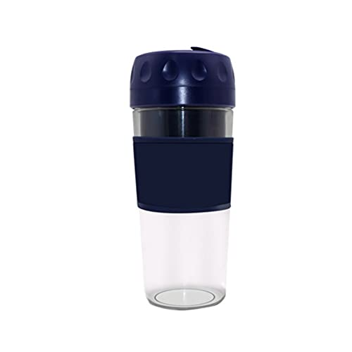 Exprimidor de frutas recargable por USB portátil Exprimidor de prensa en frío para el hogar Mini taza de jugo eléctrica multiusos Exprimidor lento compacto Extractor de masticación