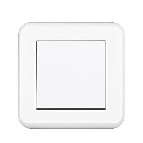 interruptor de luz 1gang 2way 16a 250V Rotura a través de las escaleras Nuevo panel de PC retardante de llama blanco 82mm * 82mm Switch de pared UE-blanco