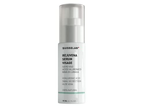 Suisse Lab - Suero Facial Baba de Caracol 98% - Con Ácido Hialurónico y Áloe Vera - Hidratación Antiarrugas Hombre y Mujer - 100% natural - 50ml