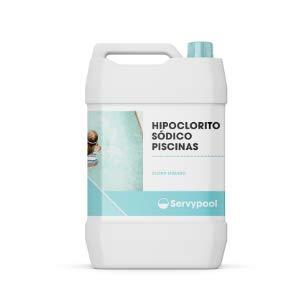 SERVYPOOL - Cloro líquido Concentrado, hipoclorito sódico. Garrafa 20 L (25 Kg)