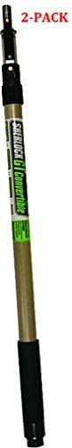 R091 Sherlock GT Convertible Extension Pole, 4-8 feet (4-8 Feet (2-Pack))