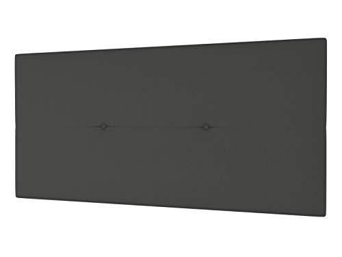 LA WEB DEL COLCHON - Cabecero Tapizado Génova para Cama de 80 (90 x 55 cms) Gris Ceniza | Cama Juvenil | Cama Matrimonio | Cabezal Cama | Cabeceros tapizados Dormitorio