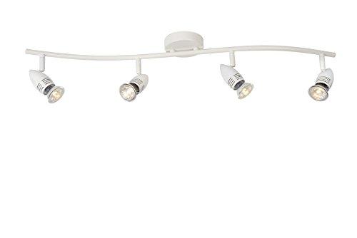Lucide CARO-LED - Spot Plafond - LED - GU10 - 4x5W 2700K - Blanc
