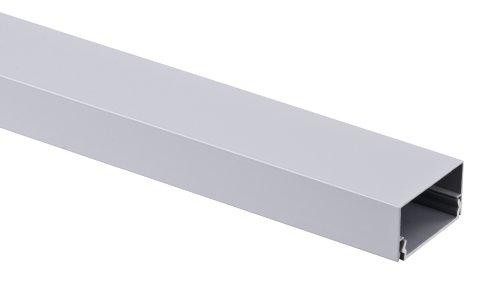Alu Kabelkanal silber eckig 115x3,7 cm für TV HiFi Computer Lampen Aluminium Abdeckung LED, Plasma oder LCD Fernseher