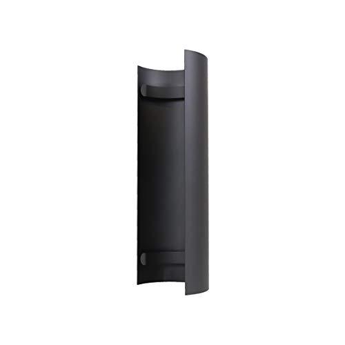 LANZZAS Rauchrohr Ofenrohr Kaminrohr Hitzeschutzschild für gerades Rohr Ø 120 mm grau