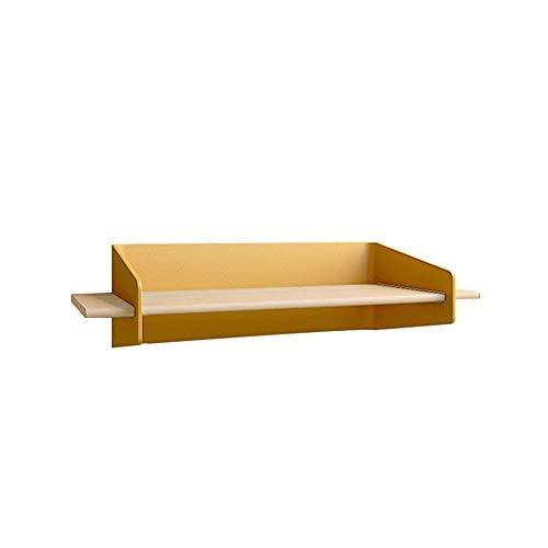 DGDF Estantería flotante de forma geométrica, estantería de hierro y madera maciza de estilo nórdico colorido montado en la pared