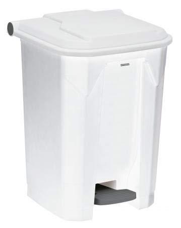 Poubelle à pédale Utilo - 50l - blanc/blanc