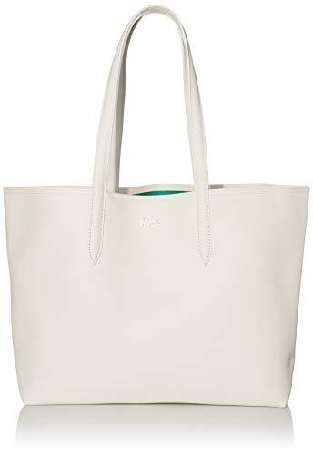 Lacoste Womens Anna Shopping Tote Bag, Farine Stripes