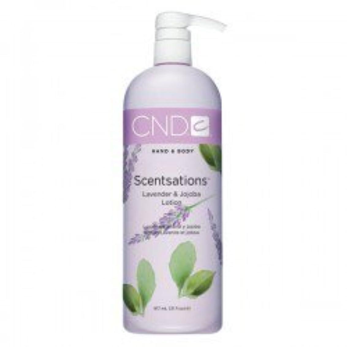 タイヤ分注する猟犬CND Scentsations Lavender & Jojoba Hand & Body Lotion - 33oz by Creative Nail [並行輸入品]