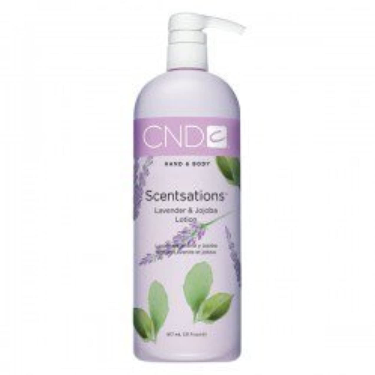 桁付属品シリンダーCND Scentsations Lavender & Jojoba Hand & Body Lotion - 33oz by Creative Nail [並行輸入品]