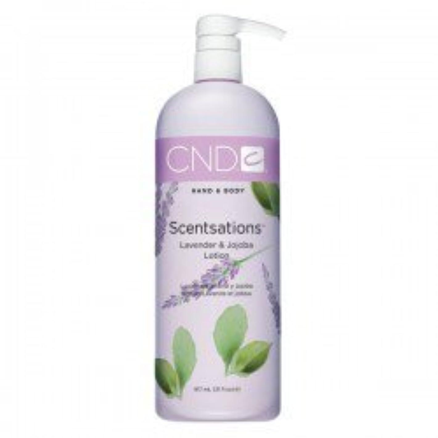 公爵重大次CND Scentsations Lavender & Jojoba Hand & Body Lotion - 33oz by Creative Nail [並行輸入品]