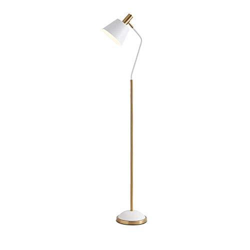 N/Z Home Equipment Lámpara de pie Lámpara de pie Moderna con Base de Metal e Interruptor de pie Lámpara de Lectura de ángulo de iluminación Ajustable para Sala de Estar Dormitorio Negro