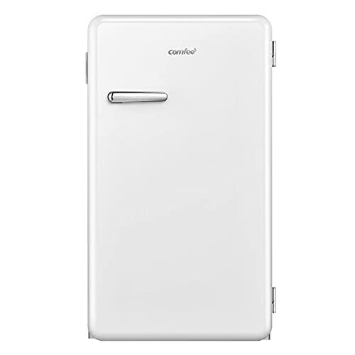 Comfee RCD93WH1RT(E) Tischkühlschrank / 93L Mini-Kühlschrank / 83,5cm Höhe / 48,8cm Breit / 107kWh/Jahr/Weiß