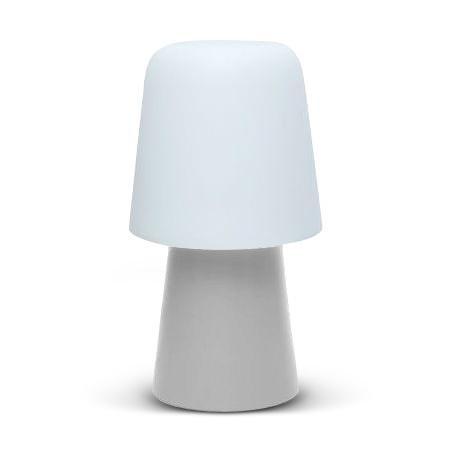 PICNIC – Lámpara de exterior gris opaco y blanco translúcido H90 cm – Lámpara de exterior Serralunga diseñada por Joan Gaspar