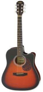 Western Guitarra acústica–Eléctrico–Brown Sunburst