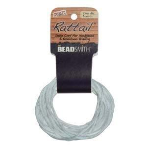 3mm Cable de satén rattail trenzado Gallant Azul 6yardas para Kumihimo y Craft