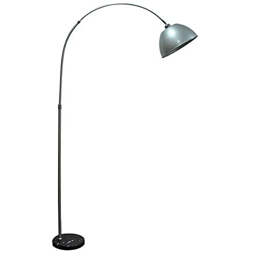 Lámpara moderna del piso del arco con la sombra colgante giratoria de 360 °, la lámpara de lectura de pie ajustable con la base de mármol, la lámpara de tareas de la barra de metal arqueada moderna