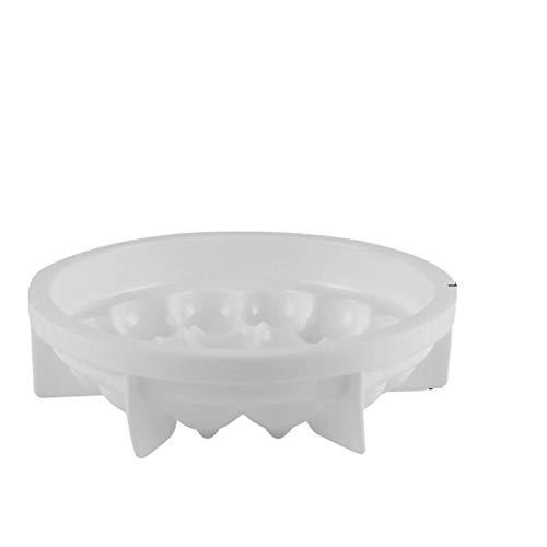 BGREN 17 moules à Mousse en Silicone moules à gâteau Blanc de Formes Multiples 3D moules à Dessert français en Forme de Coeur moules de décoration de gâteau-6