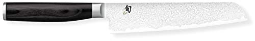 Kai Shun Premier Set Tim Mälzer Minamo cuchillo utilitario, hoja de 15 cm, cuchillo japonés ultrafilado hecho de acero damasco TMM-0701 + Kai Whetstone AP-0316