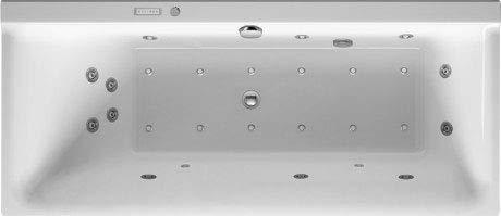 Duravit Whirlpool P3 Comforts 1600 x 700 mm, Rechteck, Einbauversion, eine Rückenschräge Links, Gestell, Ab- und Überlaufgarnitur, Air-System