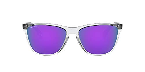 Oakley OO9444 Frogskins 35th Anniversary Round Sunglasses, Polished Clear/Prizm Violet, 57 mm