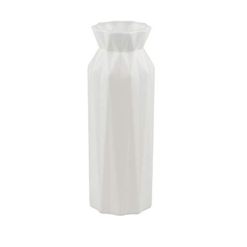 holilest Vase, Origami Plastikvase Imitation Keramik Blumentopf Korb Anordnung Behälter-Weiß