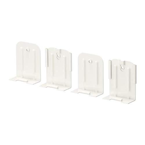 IKEA 003.358.85 Skadis - Conector para ALGOT (4 unidades), color blanco