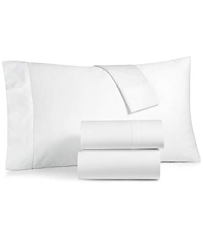 Charter Club Damask Solid Extra Deep Pocket Queen 4 Piece Sheet Set 550 Thread Count 100% Supima Cotton White