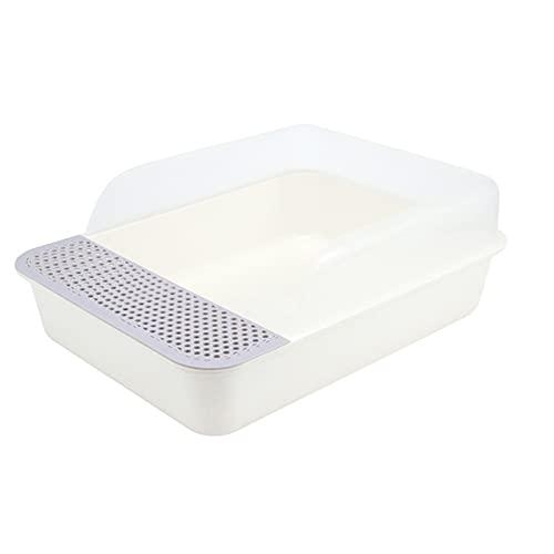 JIAGU Fácil Limpieza de la Caja de Arena Caja de Basura para Gatos Sartén con Cucharada de Basura para Gatos, fácil de Limpiar la Caja de Arena de Esquina Grande, fácil de Limpiar con Scoop