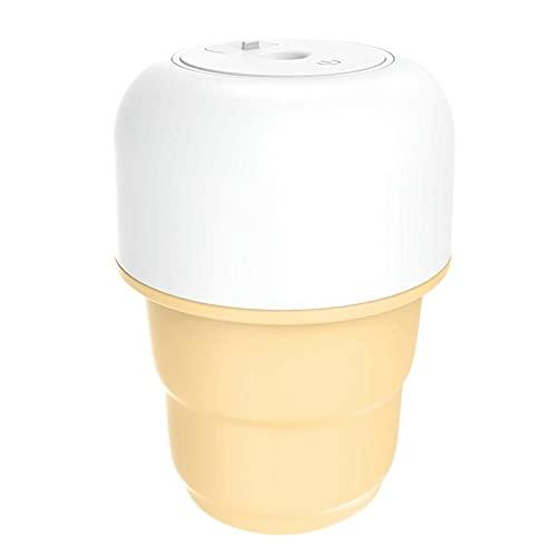 jwj Mejor humidificador portátil mini humidificador personal de coche, dormitorio USB Cool Mist atomizador purificador difusor de aceite humidificadores aceites esenciales (color amarillo