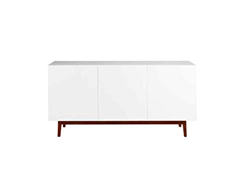 Aprodz Mango Wood Lviv Sideboard Storage Cabinet for Living Room   Wooden Cabinet for Kitchen   White Finish