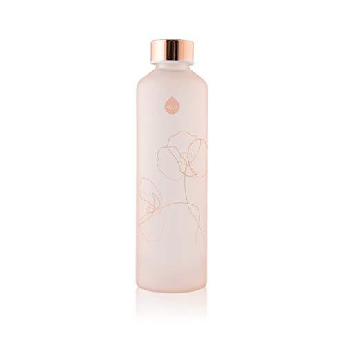 EQUA Wasserflasche aus Glas mit mattem Finish, 750 ml - Borosilikatglas - BPA-frei und auslaufsicher