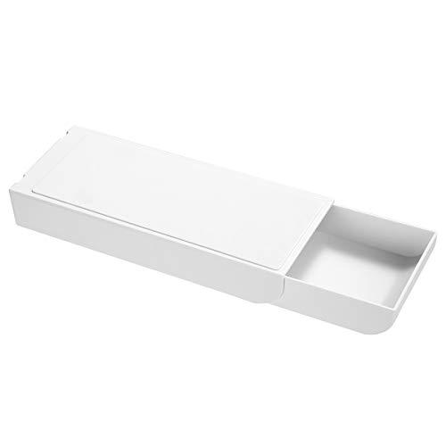 NUOBESTY Selbstklebende Schublade Bleistiftablage unter Schreibtischhalter Unsichtbar Klebende Schublade Design