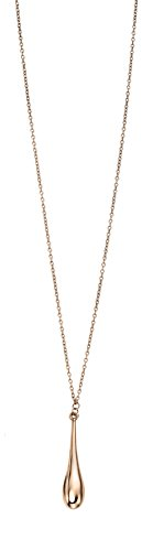 Elements Gold Ladies 9ct Rose Gold Long Drop Necklace of Length 51cm