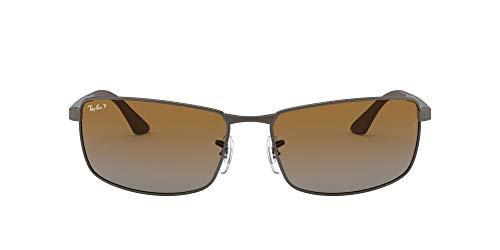 Ray-Ban Mod. 3498 Gafas de sol, Matte Gunmetal, 61 para Hombre