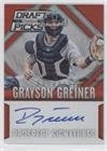 Grayson Greiner #71/100 (Baseball Card) 2014 Panini Prizm Perennial Draft Picks - Prospect Signatures Prizms - Red #16