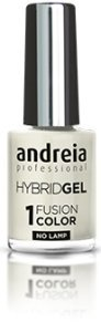 Andreia Professional Hybrid Gel Nagellak - 2 stappen en geen lamp nodig Langdurige en eenvoudige verwijdering - Fusion Color H3 Wit |Shades of Clear