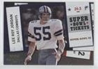 Lee Roy Jordan; Levi Jones #13/100 Levi Jones (Football Card) 2010 Playoff Contenders - Super Bowl Tickets - Gold #18