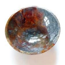 """Jet Energized Fancy Jasper Bowl 2"""" Gemstone A+ Hand Carved Rare Crystal Altar Healing Tray Dish Devotional Focus Spiritual Chakra Cleansing Metaphysical Psychic Reiki IMAGE IS JUST A REFERENCE"""