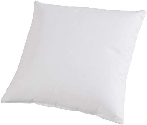 TOMOT Kissen, allergikergeeignet, 100% Polyester-Faserbällchen, 40x40 cm, Weiß