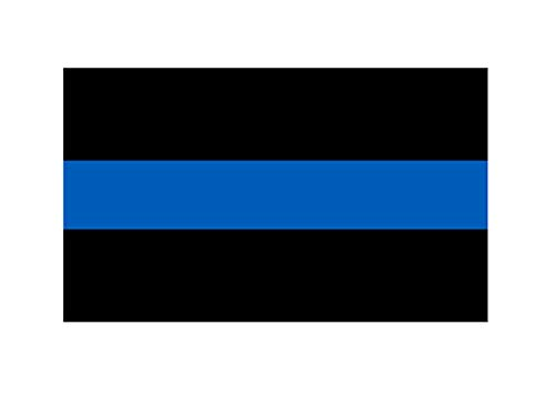 Thin Blue Line Blue Lives Matter Flag Sticker Vinyl Decal for Car Truck Window Bumper Sticker Support of Police and Law Enforcement Officers 3x5 Inch