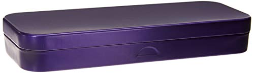 FlossFish Single Mini Pencil Box, Purple. Use as Pencil, Makeup, Jewelry, Gift, Candy, Favor or Birthday Gift Box.