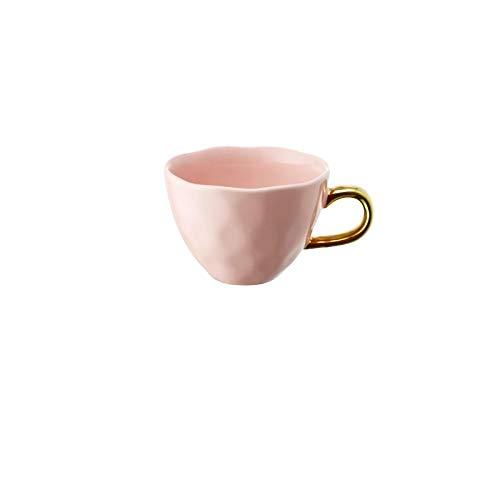 Taza de café de cerámica colorida y taza de marca para niña linda taza de leche de desayuno de avena retro europea de gran capacidad con asa B
