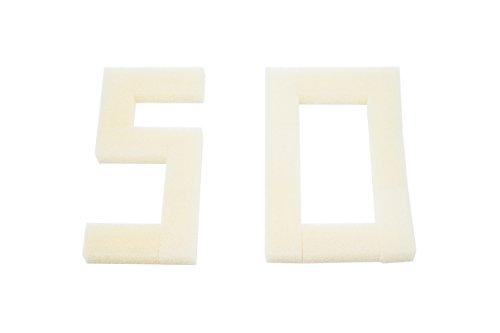 LTWHOME Compatible en Mousse Filtres Convient pour Fluval 1 Plus Filter A-180 (Paquet de 50)