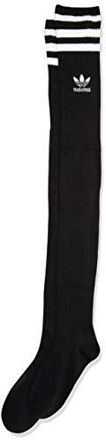 adidas Originals Oberschenkelhohe Overknee-Strümpfe, 1 Paar, Damen, Socken, Originals Over The Knee Thigh High Socks (1-pack), schwarz / weiß, Medium