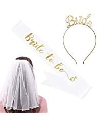 Best bachelorette party veil and sash for 2020