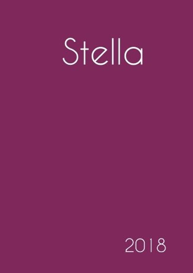 見通し待つどちらも2018: Namenskalender 2018 - Stella - DIN A5 - eine Woche pro Doppelseite